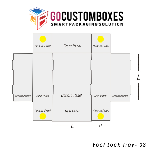 Foot Lock Tray Packaging