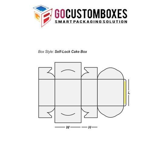 Self Lock Cake Boxes Packaging